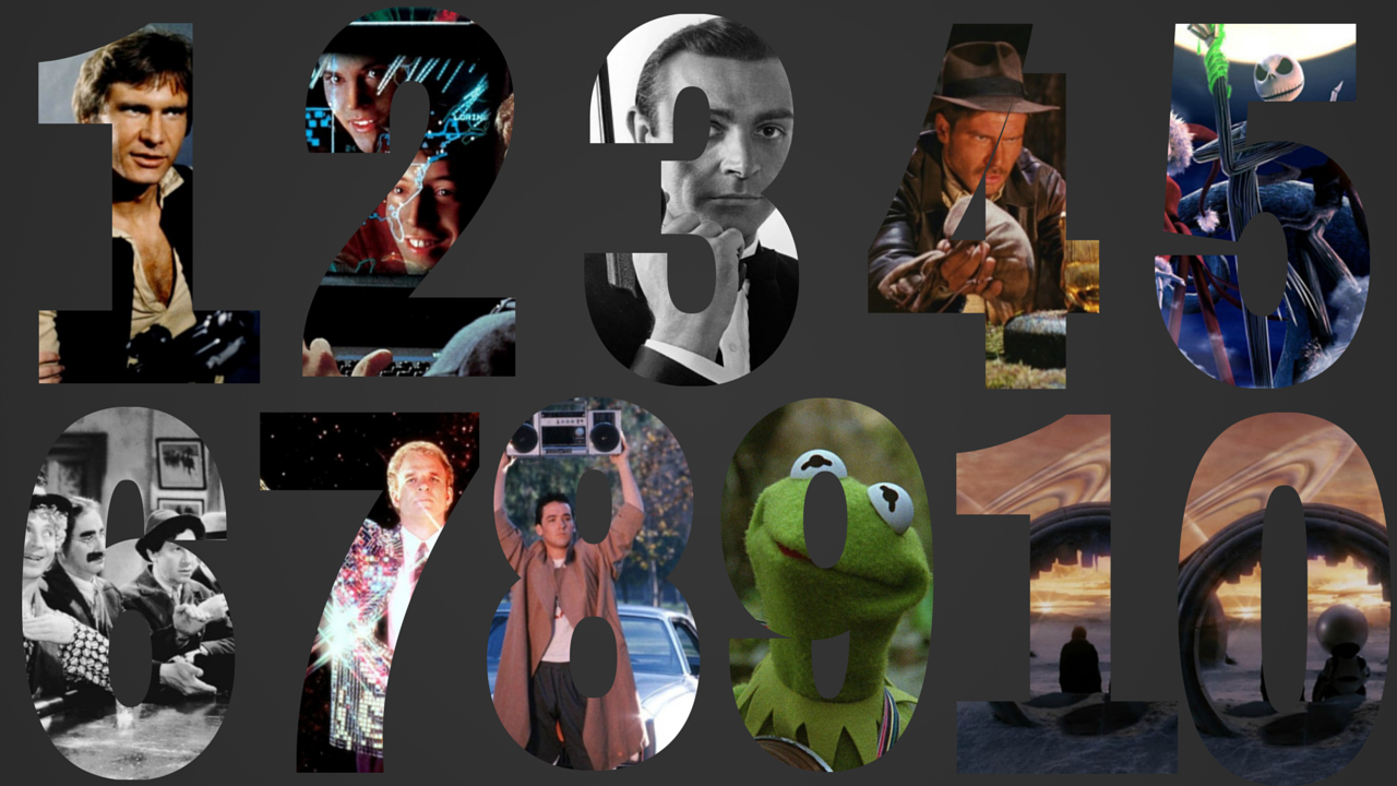 Top 10 Favorite Movies, right now… #Top10